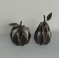 Black & Gold Geo Fruit
