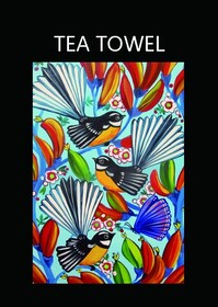 Kiwiana Tea Towel - Fantails