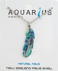 Paua Feather Necklace