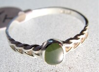 Plait Greenstone Ring