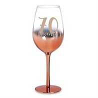 70 Rose Gold Ombre Wine Glass