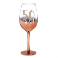 50 Rose Gold Ombre Wine Glass
