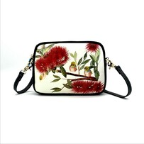 Kiwiana Shoulder Bag - Pohutukawa Waxeye
