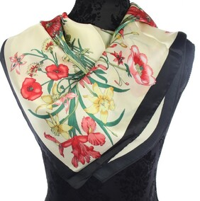 Floral Scarf - Red/ Yellow