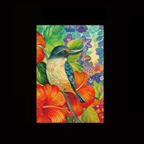 Kiwiana Tea Towel - Kingfisher