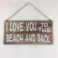 Love you to the Beach Sign