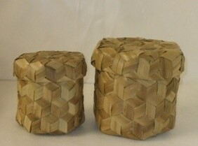 Round Bamboo Weave Box - Small
