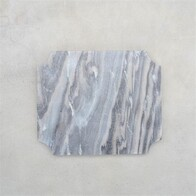 Cheese Board Arced Corner Grey Marble