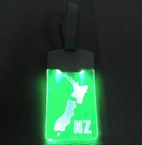 Light up Luggage Tag - NZ Map