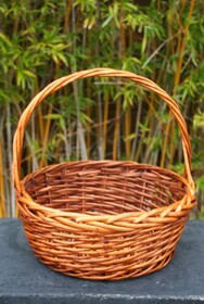 Round Tan Basket - Large