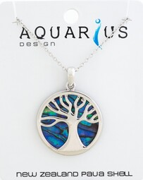 Paua Kauri Tree Necklace