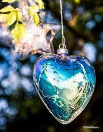 Clear Pearl Hanging Heart Light