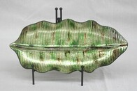 Glass Leaf Shape Plate