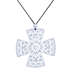 Lacey Celtic Cross Necklace - Silver