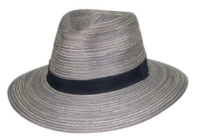 Crushable Fedora - Black/White