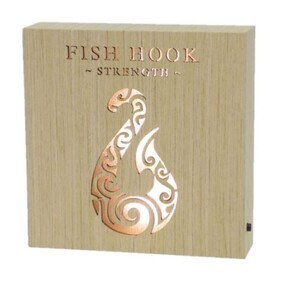 Wooden LED Block - Fish Hook
