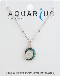 Paua Inlay Koru Necklace