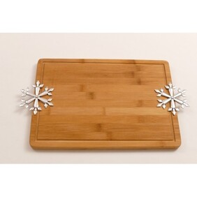 Wooden Bread Board - Snowflake