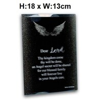 Angel Prayer Plaque - Lords Prayer