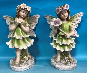 Fairy with Flower Statue