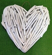 Driftwood Heart White Wash