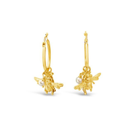 Bee You Hoop Earrings - Yellow Gold