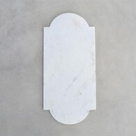 Cheese Board Keyhole White Marble