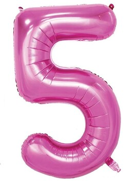 Giant Helium Number 5 - Pink