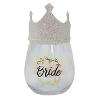 Celebration Glass w/ Crown - Bride