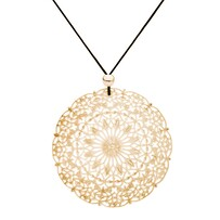 Lacey Circle Necklace - Yellow Gold