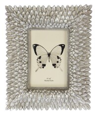 Small Feather Photoframe - Champagne