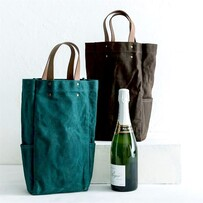 Waxed Canvas Bottle Tote