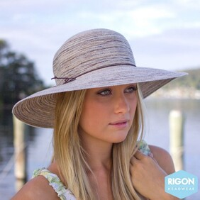 Bermuda Capeline Hat - Light Brown