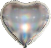 Foil Heart Balloon Iridescent