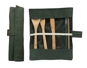 Eco Cutlery Set - Olive