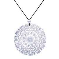Lacey Circle Necklace - Silver