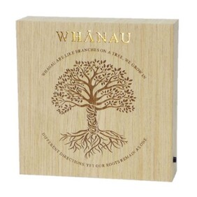 Wooden LED Block - Whanau Family