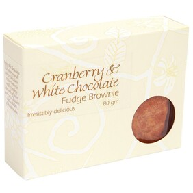 Cranberry & White Chocolate Brownie 80g