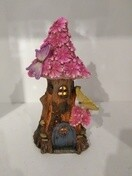 Solar Light Fairy House - Pink