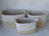 Cotton & Maize Basket - Small