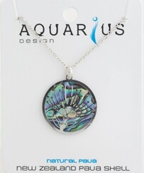 Paua Filigree Pohutukawa Necklace
