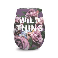 Insulated Wine Glass - Wild Thing