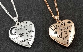 Etched Locket - Silver