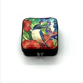 Portable Jewellery Box - Kingfisher