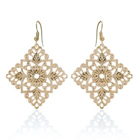 Lacey Diamond Earrings - Yellow Gold