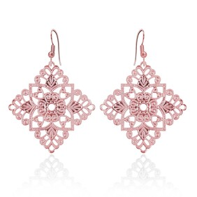 Lacey Diamond Earrings - Rose Gold