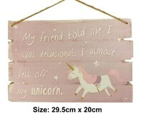 Purple Unicorn MDF Plaque