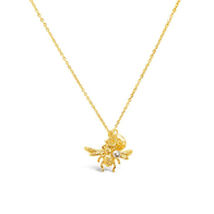 Bee You Necklace 80cm - Yellow Gold