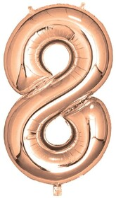 Giant Helium Number 8 - Rose Gold