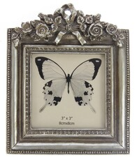 Flowers & Bow Photoframe - Champagne
